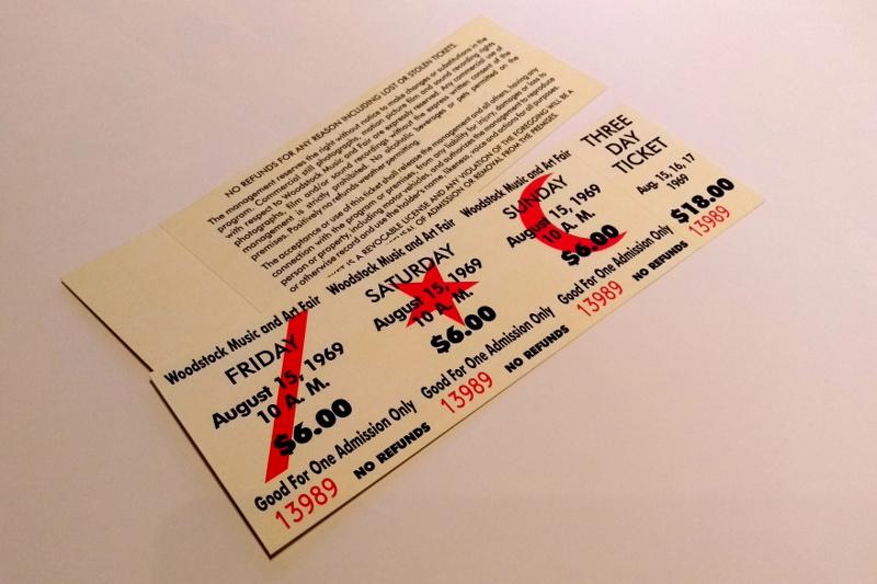 Eintrittskarten-Lesezeichen
